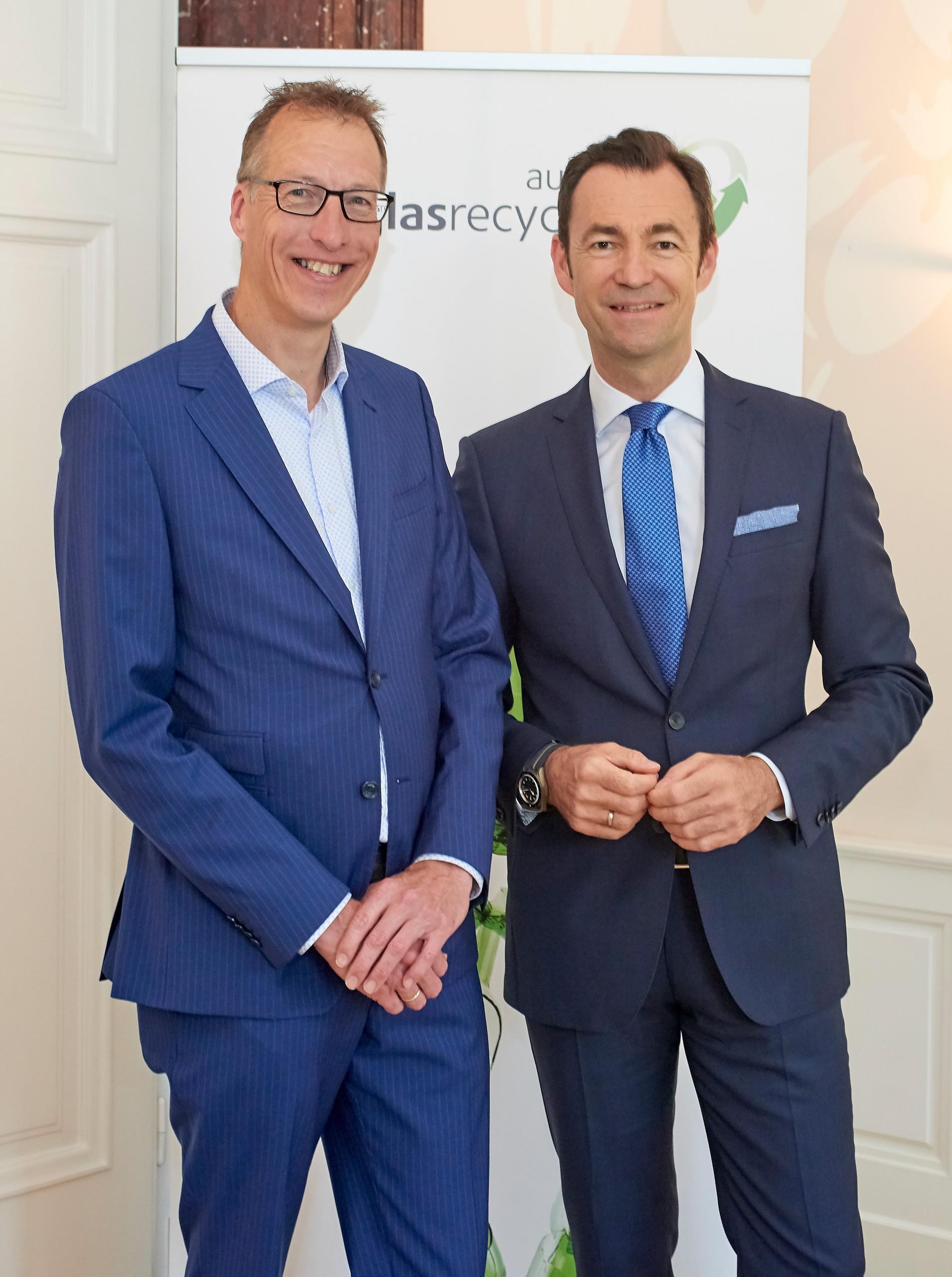 Austria Glas ReCIRCLE, 14.Mai 2018, Toine Timmermans und Harald Hauke