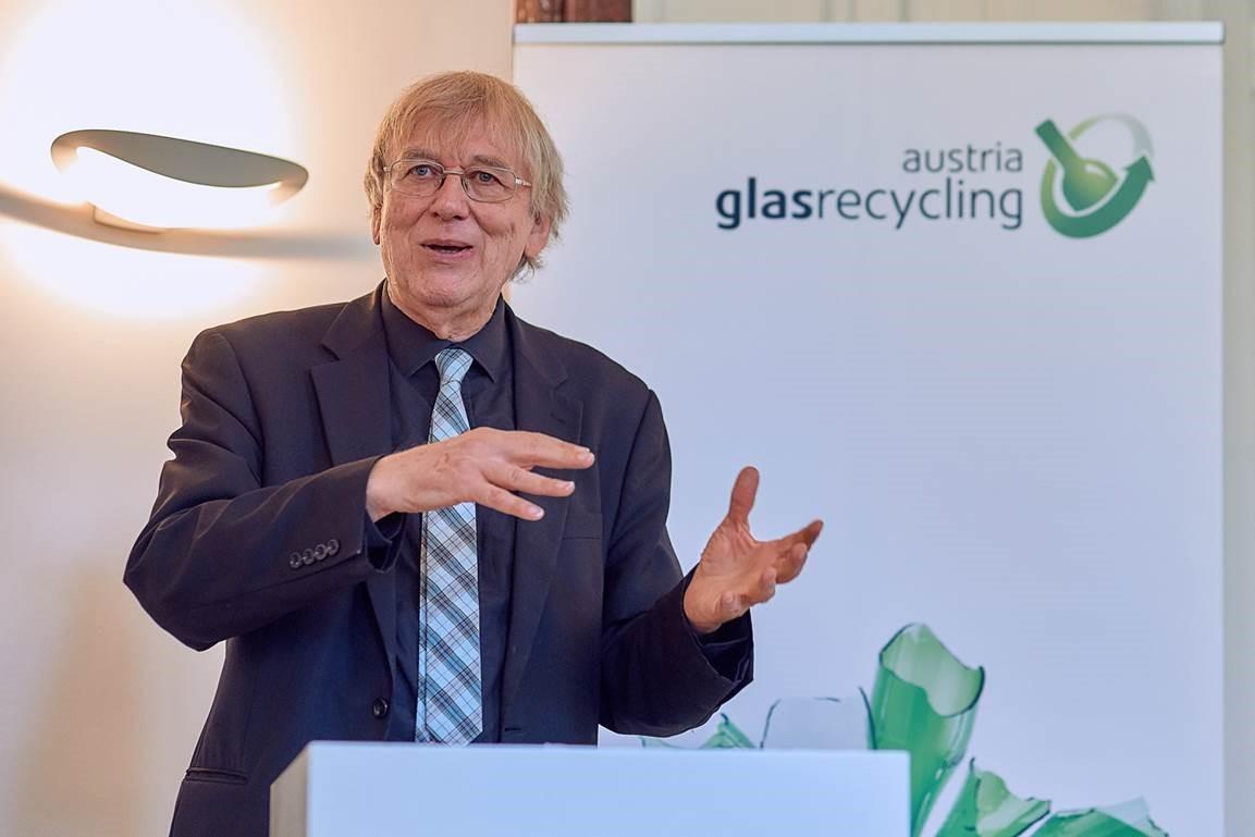 Jakob von Uexküll, Begründer des Alternativen Nobelpreises, beim 6. Austria Glas ReCIRCLE