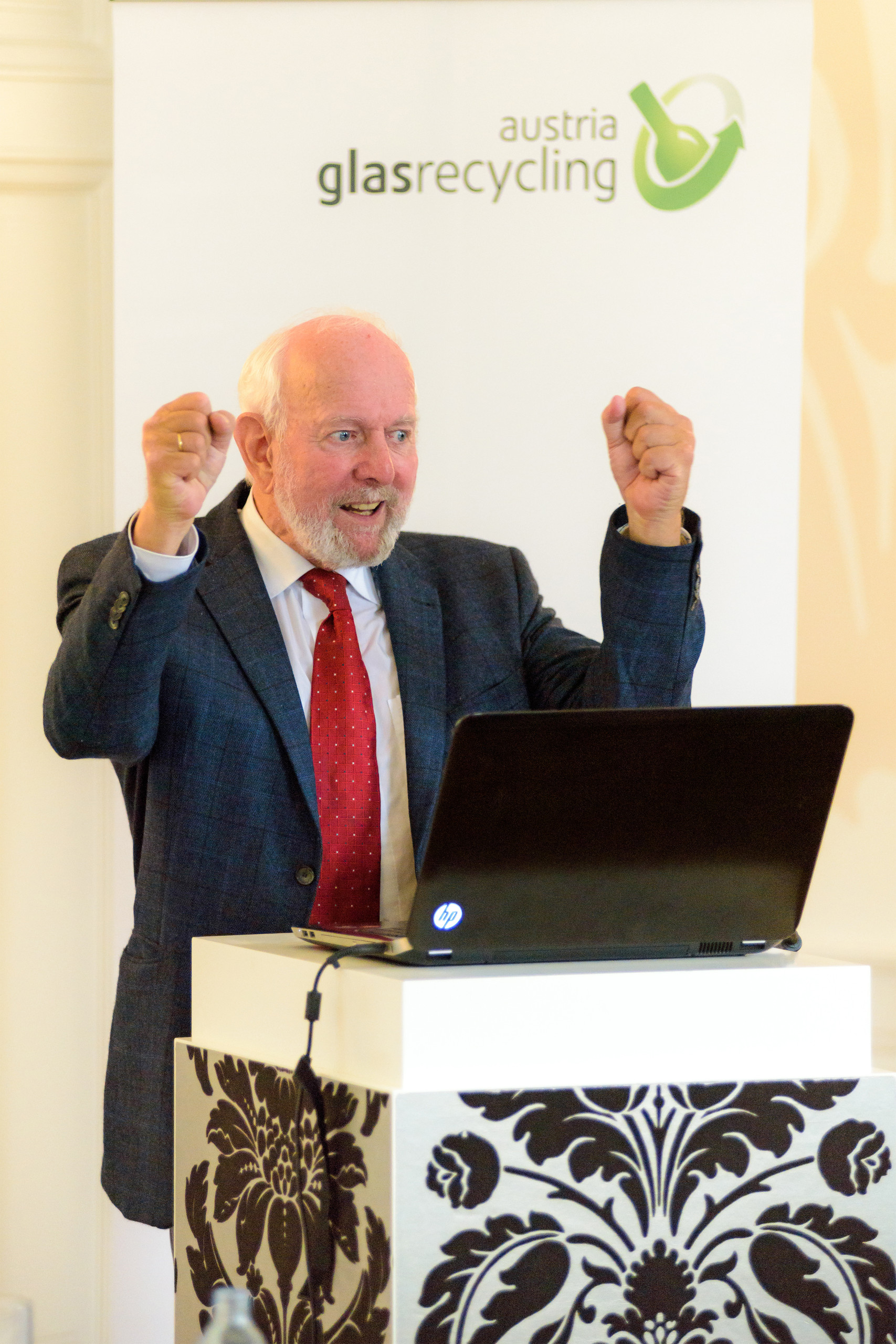 Prof. Ernst Ulrich von Weizsäcker beim Austria Glas ReCIRCLE