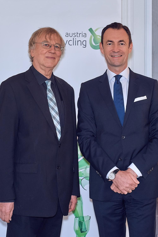 Jakob von Uexküll, Begründer des Alternativen Nobelpreises, Dr. Harald Hauke, Geschäftsführer Austria Glas Recycling
