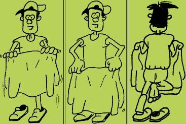 """Zaubertrick """"Der verschwundene Fuß"""" in drei kurzen Bildern"""