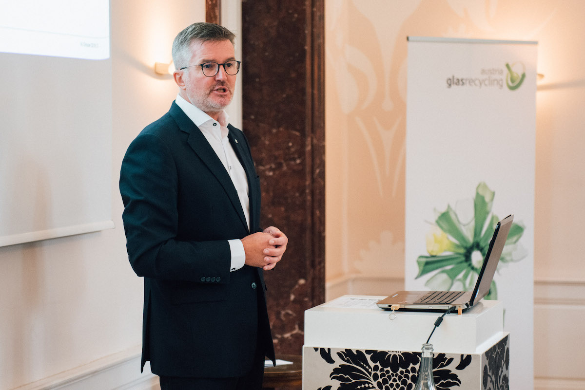 Michael Wiener, CEO Duales System Holding GmbH & Co. KG beim 14. Austria Glas ReCIRCLE am 14. Oktober 2019
