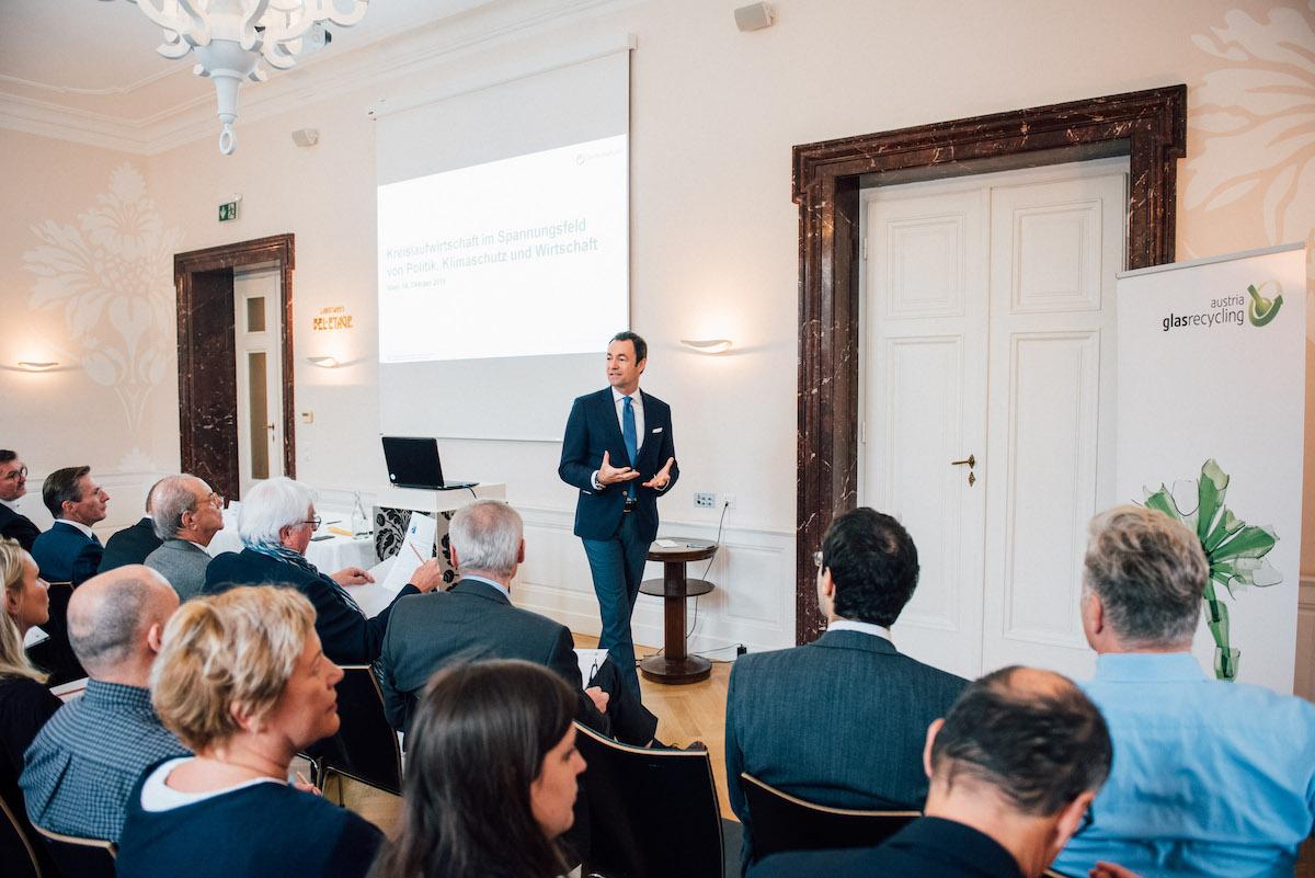 Harald Hauke, Geschäftsführer Austria Glas Recycling GmbH beim 14. Austria Glas ReCIRCLE am 14. Oktober 2019